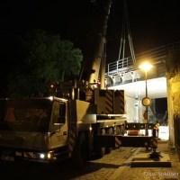 35-Tonnen-Stahlbrücke in der Grüntaler Straße abgebaut