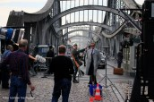 Filmdreh Präsident Aserbaidschan İlham Əliyev Stettiner Brücke Berlin (7)