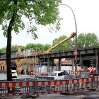 100 Jahre alte Bahnbrücke über der Wollankstraße wird erneuert