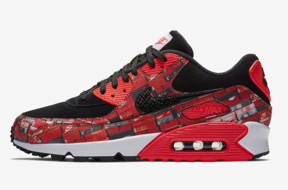 NIKE AIR MAX 90 X ATMOS WE LOVE NIKE US 8