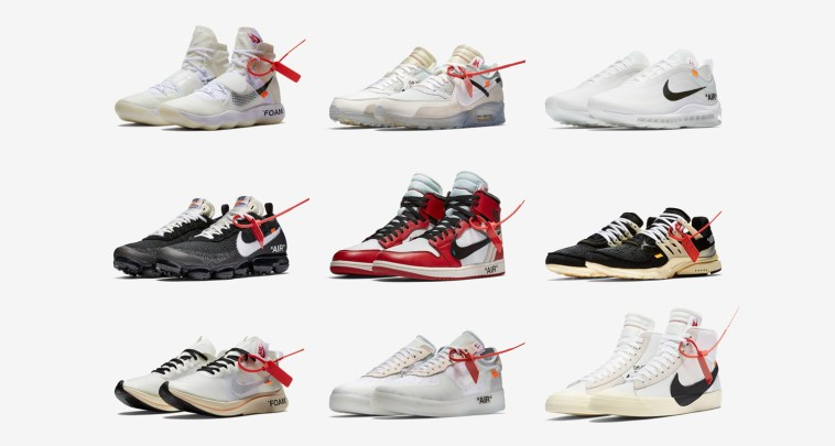 "2fe7b31828b When Virgil Abloh and Nike released their ""The Ten"" collaboration sneaker  last year resellers knew 2017-18 would be would be a gold rush."