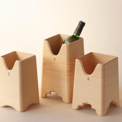 Iwata Sanbou - rafraîchisseur à vin en cyprès - DENSAN