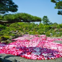 Shimane: Lac Nakaumi,  le jardin Yuushien sur l'île Daikonshima.