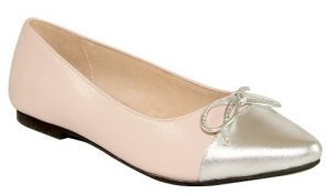 Pink and Silver Ballet Pumps
