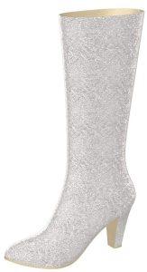 Solely Original Silver Glitter Boot
