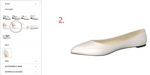 Baby Blue Vintage Flats Step 2-Get the Pointy Toe