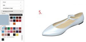 Baby Blue Vintage Flats Step 5-Choosing the Colour