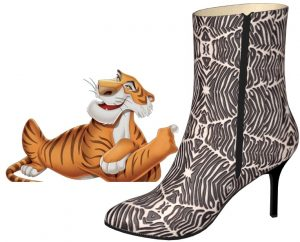 White Tiger Print Pony Hair Calf Boot