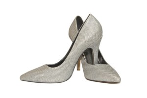 Audrey Silver Wedding Shoes