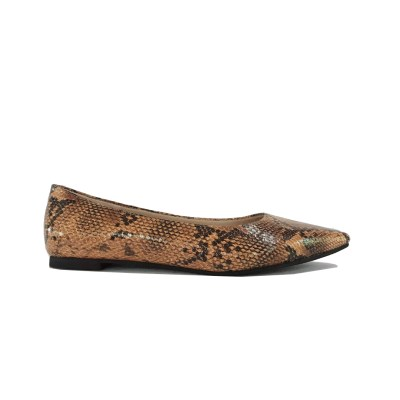 Hwo to wear snakeskin shoes - flats