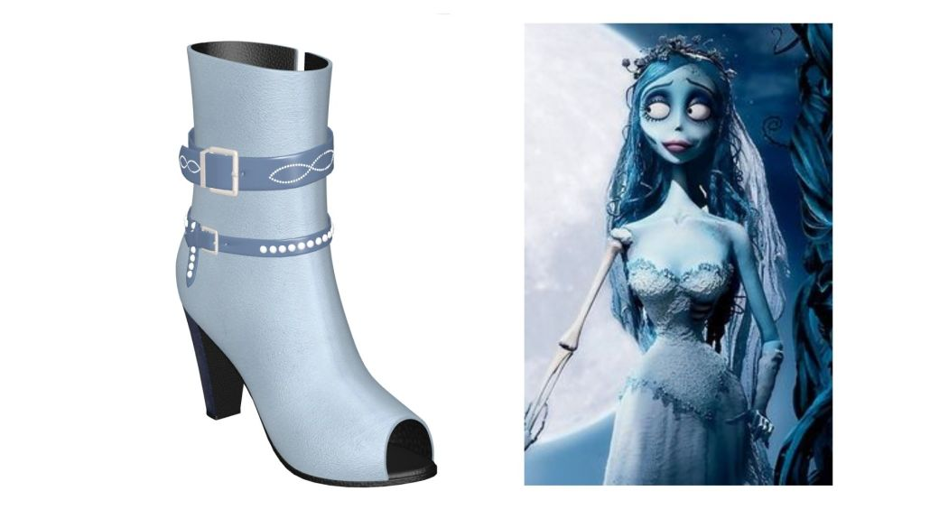Corpse Bride Halloween Shoes
