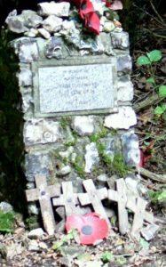 Memorial stone to Hauptman Joseph Oesterman