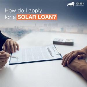 How do I apply for a solar loan