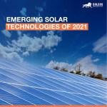 Emerging Solar Technologies of 2021
