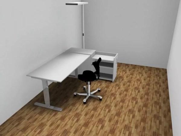 Start Up Büroeinrichtung Tisch, Stuhl, Stauraum und Lampe günstig
