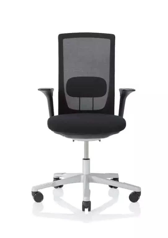 HÅG Futu mesh Bürostuhl mit Netzrücken schwarz Front
