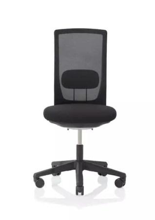 HÅG Futu mesh Bürostuhl mit Netzrücken schwarz Front ohne Armlehne