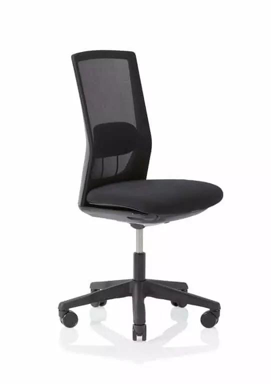 HÅG Futu mesh Bürostuhl mit Netzrücken schwarz Perspektive ohne Armlehne