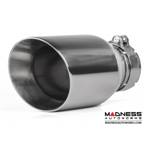 fiat 500 custom stainless steel exhaust tip by madness 1 stainless steel 2 5 id