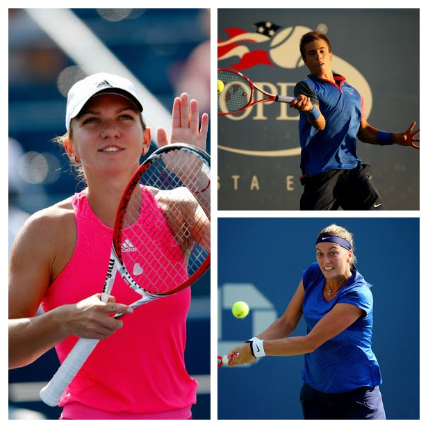 L-R: Simona Halep, Petra Kvitova & Borna Coric.  Images from Zimbio.