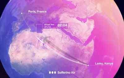 Solferino Air Virtual Tour, From Kenya to France