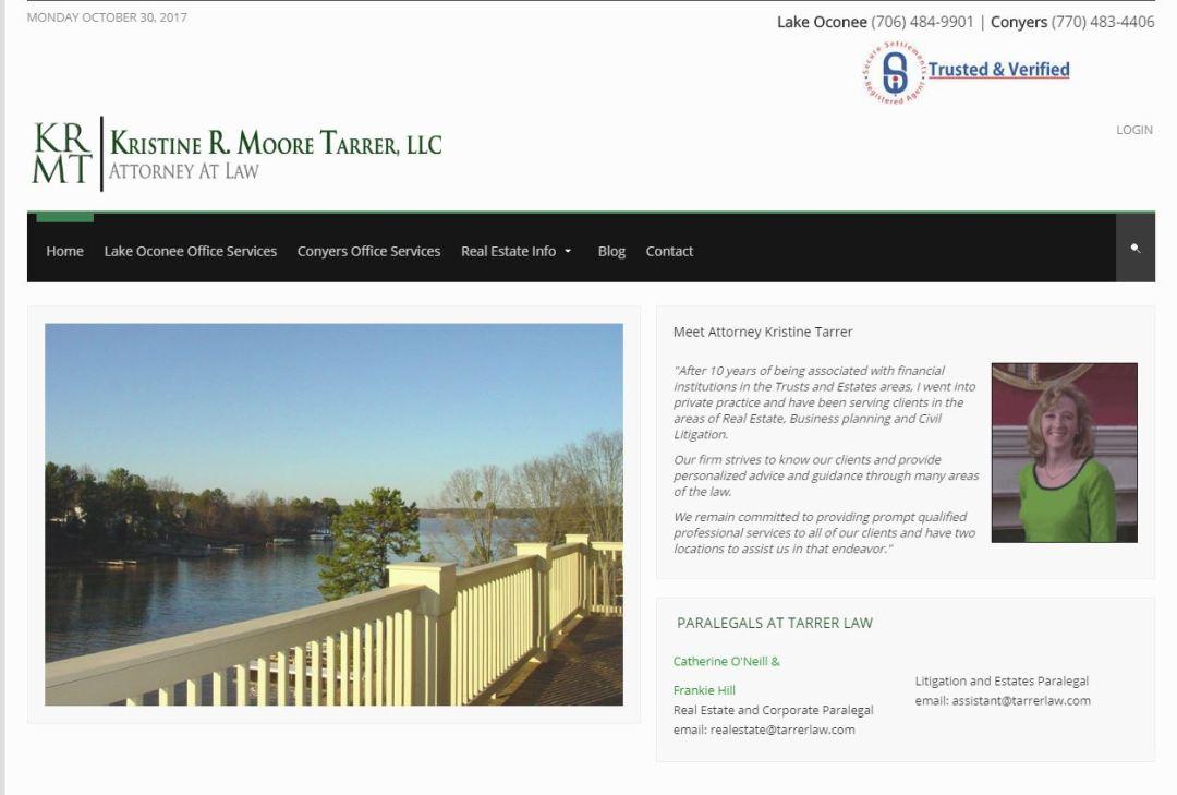 Solia Media Website for Tarrer law of Georgia