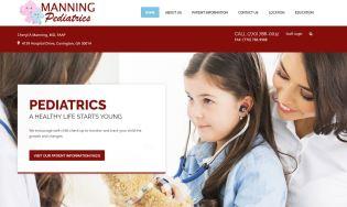 Solia Media Designed Website - Manning Pediatrics