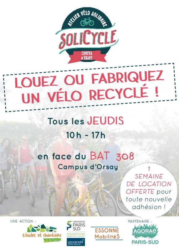 Location vélo SoliCycle orsay