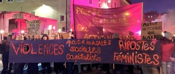 Mobilisation et manifestation féministe à Grenoble le samedi 21 novembre (et caisse de solidarité IVG hors délais du PF38)