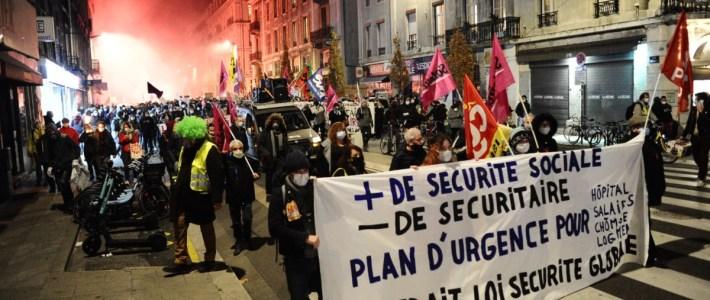 Contre les lois liberticides et la précarité, Pour l'emploi et les salaires : un 5 décembre de lutte à Grenoble !