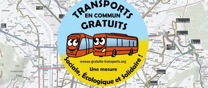 Manifestation pour le développement et la gratuité des transports en commun de l'agglo grenobloise le 12 mars, à 12h devant la CCI de Grenoble
