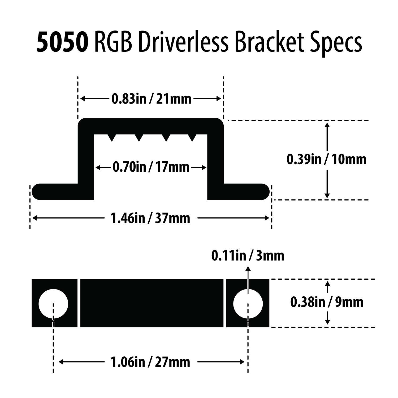 Bracket For Driverless Rgb Led Strip
