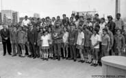 Con motivo de las actividades en celebración del XV Aniversario del Triunfo de la Revolución, el Comandante en Jefe, junto a otros dirigentes del Partido y el Estado, sostuvo un encuentro con un grupo de jóvenes, que nacieron el 1 enero de 1959.