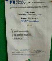 [Bekasi] Lowongan Kerja Operator di PT KMK Plastics Indonesia