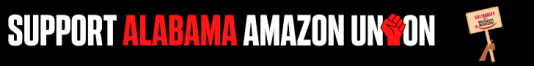 Support Amazon Workers banner