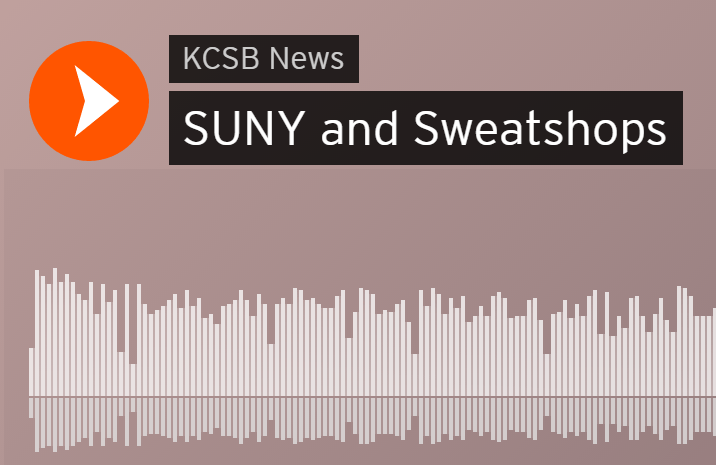 Radio Interview: SUNY and Sweatshops