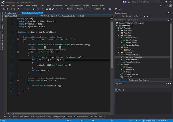 Using Visual Studio with Webpack for Angular Development