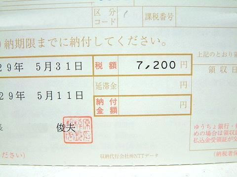ジムニー(軽自動車)は、7,200円!