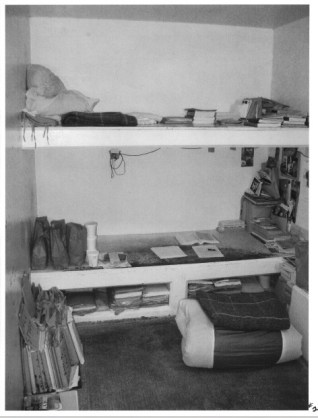 View of a cell from approximately oe step inside cell door area (Credits: California Prison Watch)