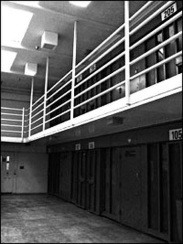pbsp - A view of the hallway in a pod. Each hallway houses eight cells. Each pod has six hallways. There are 132 such hallways at the prison - npr