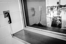 A visitation window at PBSP (Credits Del Norte Triplicate / Bryant Anderson)
