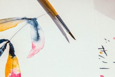 Creatieve evenementen in het Werkspoorkathedraal van Utrecht. Flavourites 2017. Workshop Isabella Illustrations.