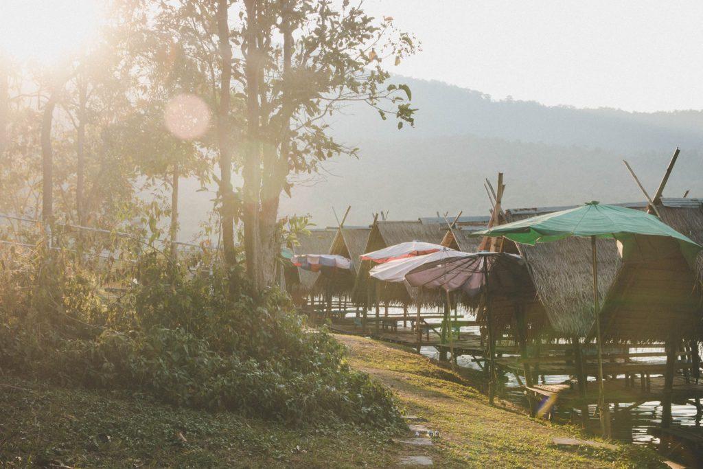 Hua Tueng Tao Lake in Chiang Mai, Thailand.