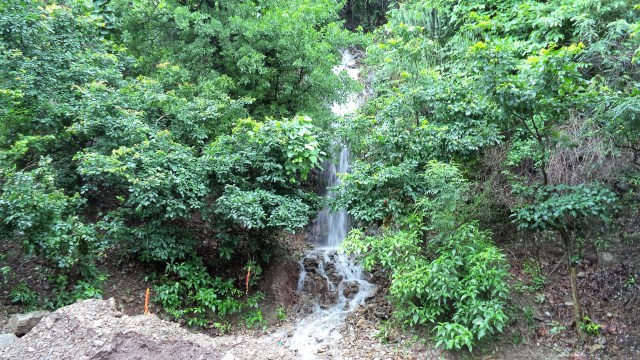 Waterfall by the road
