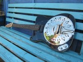 Another shot of this fine looking and playing left hander. Contact me through the site if you are looking for a left handed Sollophonic resonator guitar.