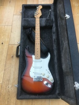 Fender Standard Strat in for a set up, a bit of TLC to the electronics and a fret dress and polish. A cracking Strat here.