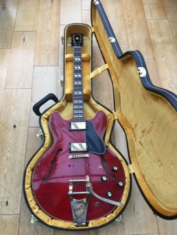 And now two fine old beasts. This Gibson ES345 needed some work on the Bigsby as well as a good clean up and set up. The Bigsby also needed a ground wire fitting which was a challenge in itself! Sweet player and a great looking guitar