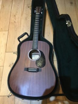 Another big sounding guitar in recently, this lovely Martin DX1. Mahogany body and a sweet playing neck, in for a bit of a setup and a restring.