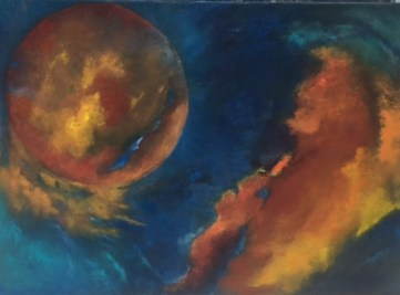 """""""Zwei Welten"""", 2016, 70 cm x 50 cm"""