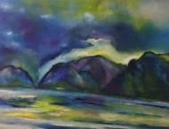 """""""Am Rhein"""", 2017, 100 cm x 80 cm"""